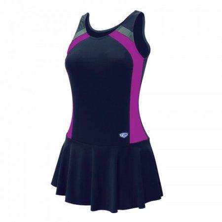 ชุดว่ายน้ำหญิงแบบกระโปรง1 ท่อน(สีกรมม่วง) รหัส:342632