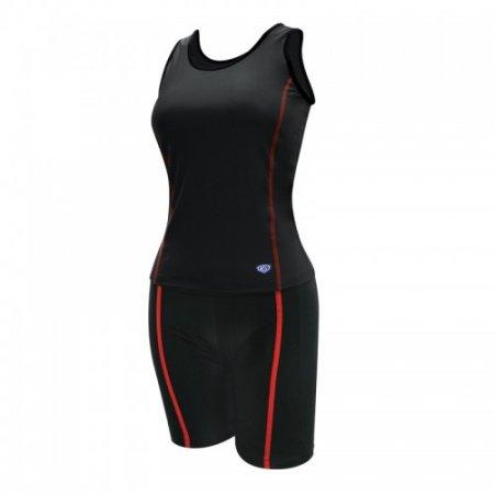 ชุดว่ายน้ำหญิงแบบกางเกง 2 ท่อน(สีดำ) รหัส:342634
