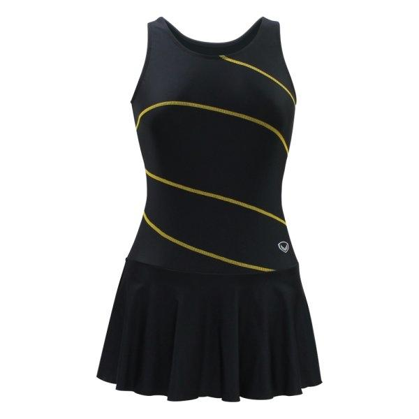 ชุดว่ายน้ำหญิงแบบกระโปรง 1 ท่อน  รหัส : 342667 (สีดำ)