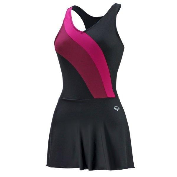ชุดว่ายน้ำหญิงแบบกระโปรง 1 ท่อน รหัส : 342668 (สีดำ)