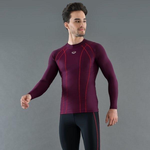 เสื้อว่ายน้ำชายแขนยาว รหัส : 342224 (สีเปลือกมังคุด)