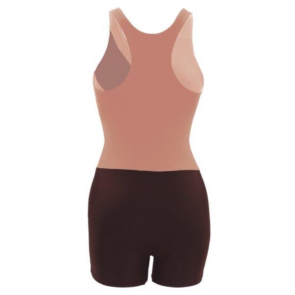 ชุดว่ายน้ำหญิงแบบกางเกง 1 ท่อน รหัส : 342669 (สีโอรส)