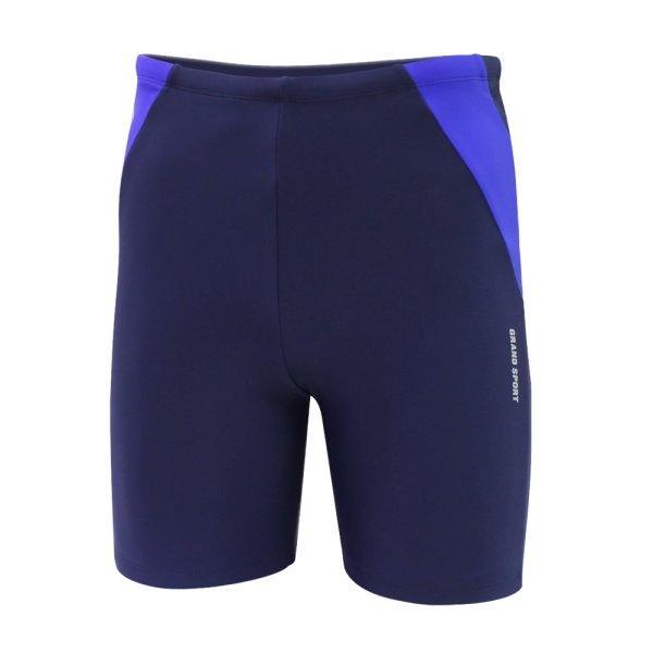 กางเกงว่ายน้ำชายขาสามส่วน สีล้วน รหัสสินค้า : 342218 (สีกรม)