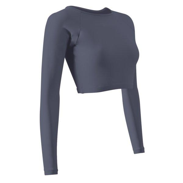 เสื้อครอปว่ายน้ำหญิง รหัส : 342673 (สีเทา)