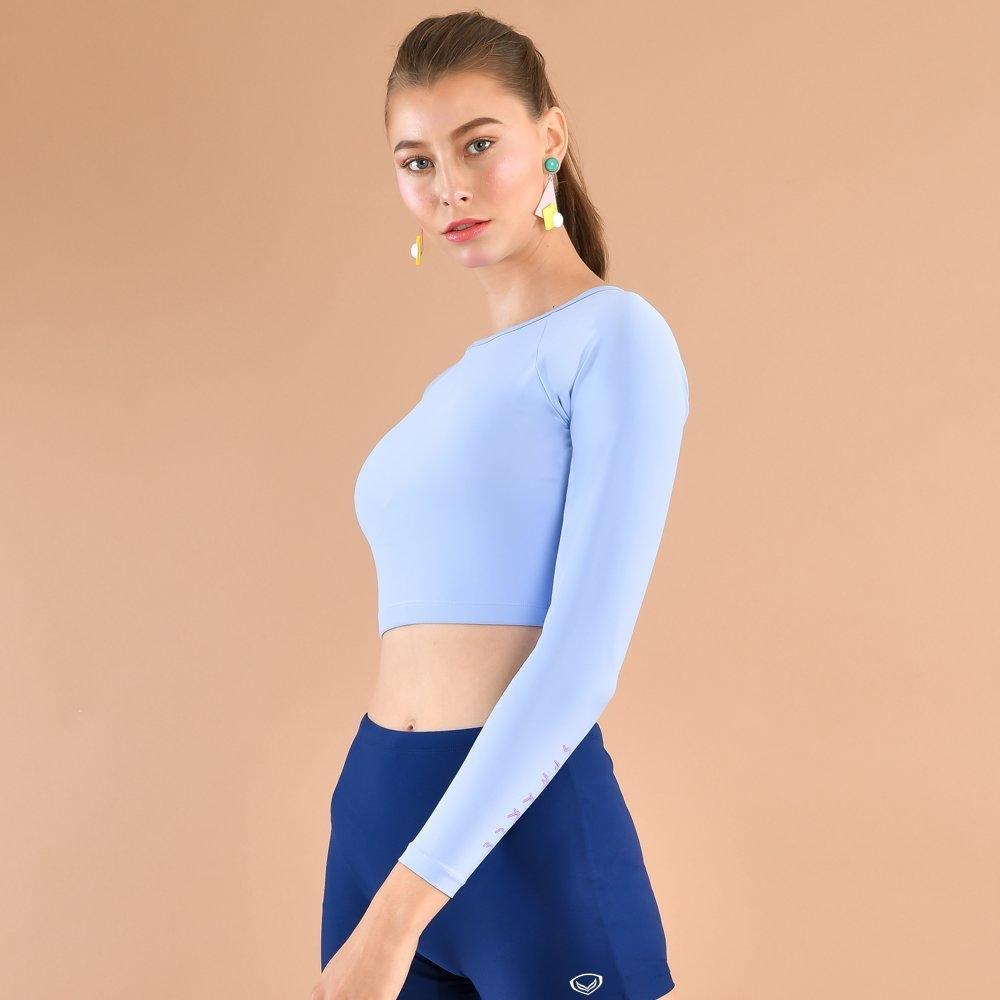 เสื้อครอปว่ายน้ำหญิง รหัส : 342673 (สีฟ้า)