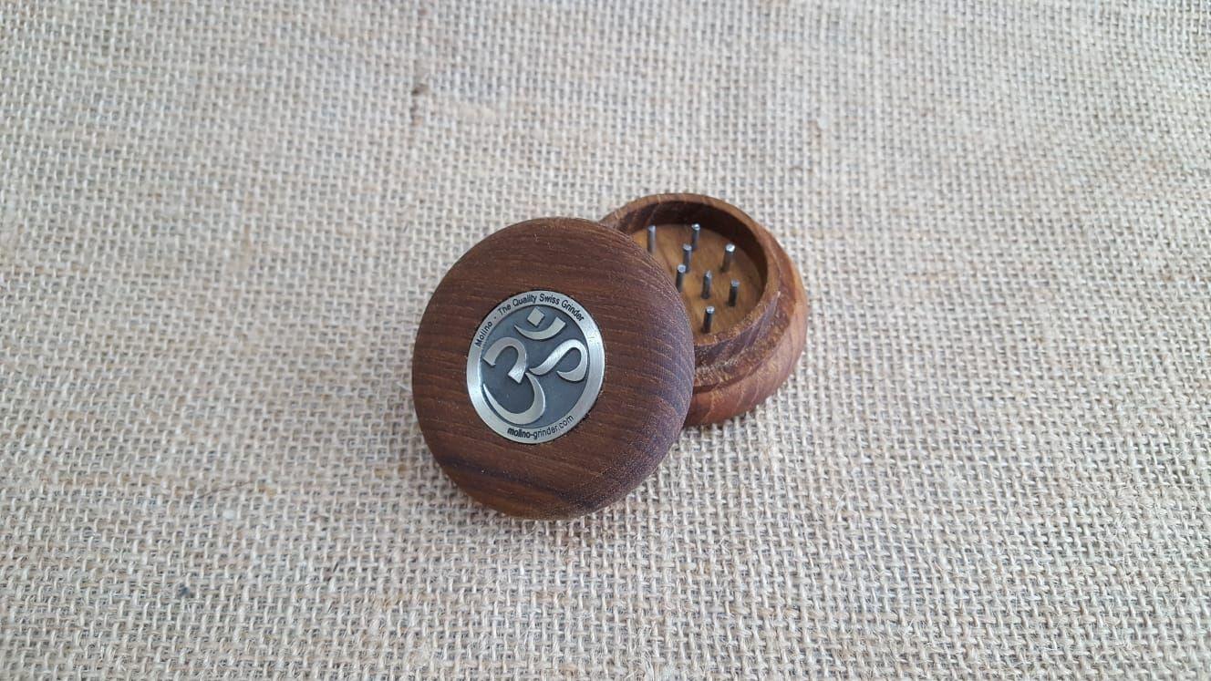 เครื่องบด Tobacco Teak Wood Grinder - Ohm