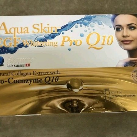 2 Boxes Aqua Skin EGF Whitening Pro Q10  2 ml x 24 amp Ship US Freeshipping Tracking