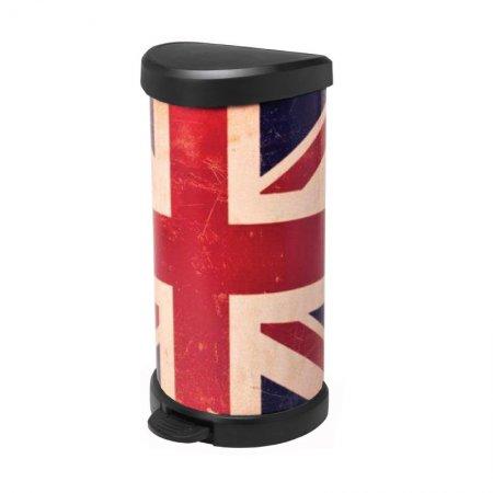 ถังขยะ DECO PEDAL BIN 40L ลายธงชาติ