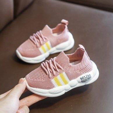 รองเท้าผ้าใบเด็ก G22 ชมพู-ม่วง