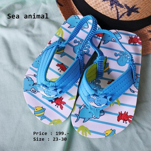 A22 รองเท้ารัดส้น Sea animal