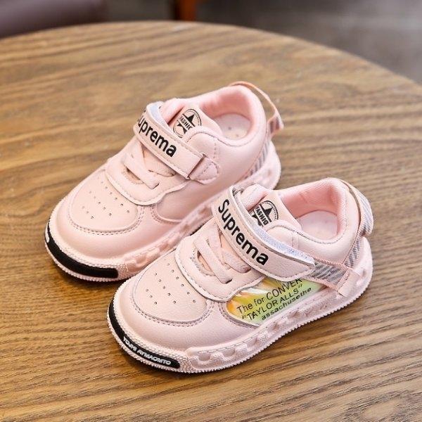 รองเท้าผ้าใบเด็ก K16 ชมพู