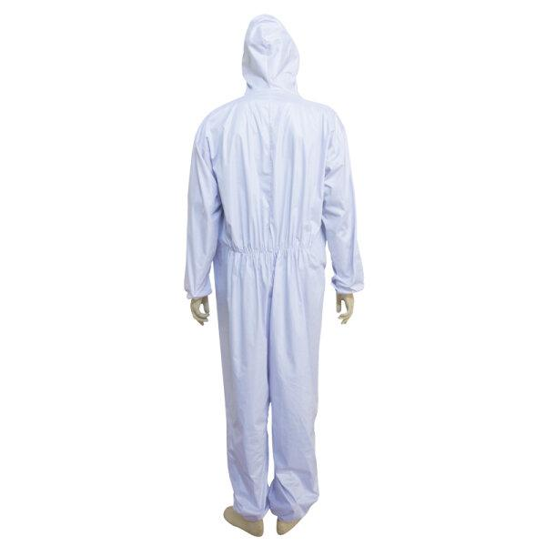ชุด PPE Level 3 ซักได้ 20ครั้ง รุ่น 5001(102) สีขาวมีหมวก
