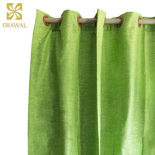 ผ้าม่านสีเขียว