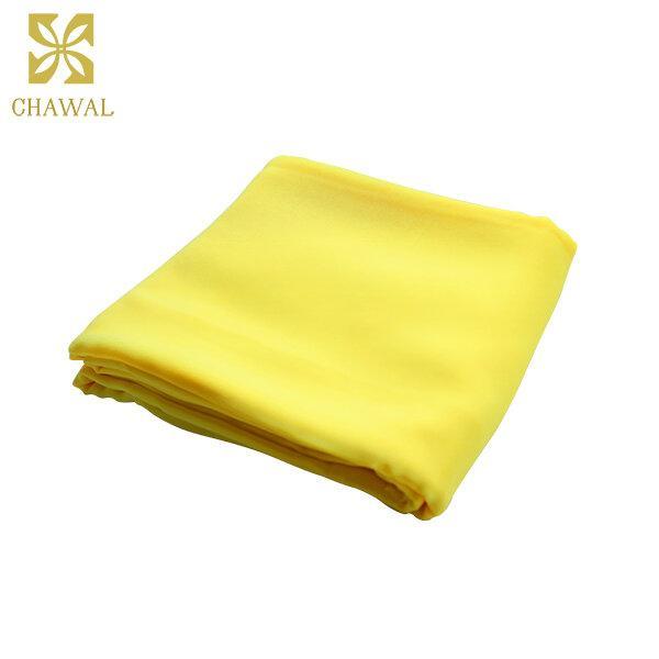 ผ้าชีฟอง สีเหลืองอ่อน