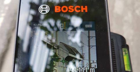 ทดสอบยิงภายนอก เครื่องวัดระยะเลเซอร์ BOSCH GLM150C