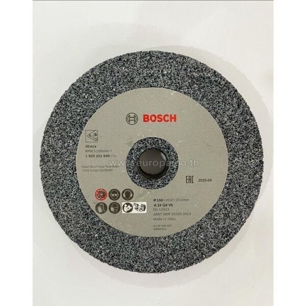 1609201649 หินเจียร 6 นิ้ว Bosch G24 150มม. (หนา 20 มม.| รูเพลา 20 มม.)