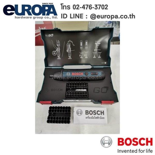 ไขควงไร้สาย Li-on 3.6 V. Bosch GO (GEN-2) พร้อมดอกไขควง 32 ดอก + 1 ก้านต่อ