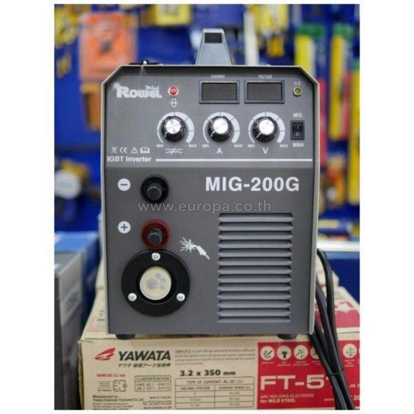 (ชุดโปรโมชัน) เครื่องเชื่อมซีโอทู 200 แอมป์ ROWEL Mini รุ่น MIG-200G + หน้ากากออโต้ RW-WA-ADF300S