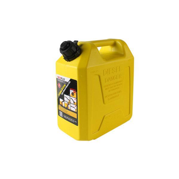แกลลอนน้ำมันดีเซล 10 ลิตร มีระบบ Safety Valve SEAFLO (สีเหลือง | ใช้สำรองน้ำมันเชื้อเพลิง)