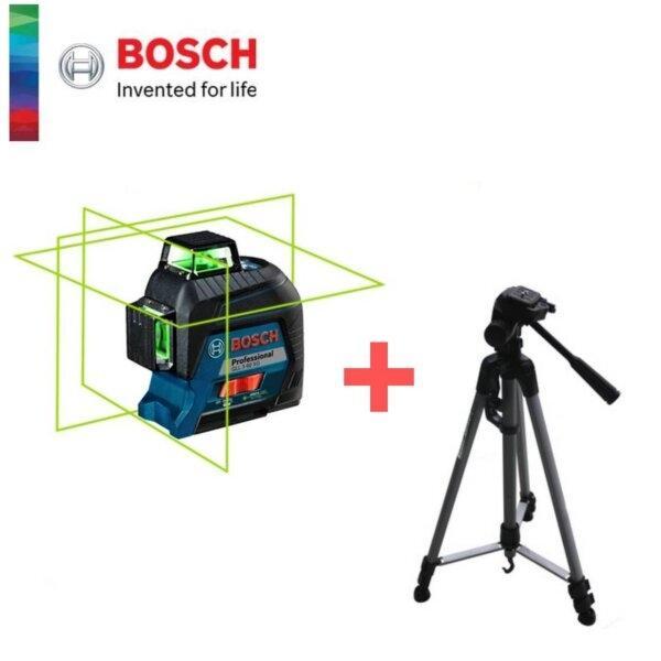 เครื่องถ่ายระดับเลเซอร์แสงเขียว 360 องศา BOSCH รุ่น GLL3-60XG + ขาตั้ง WT3520P