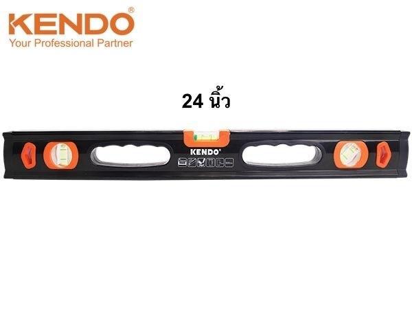 ระดับน้ำอลูมิเนียม 24 นิ้ว (600 มม.) 3 ลูกน้ำ KENDO รุ่น 35341