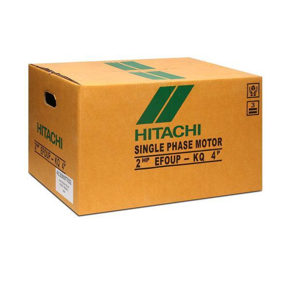 มอเตอร์ 1 เฟส 2 แรงม้า (1.5 KW.) HITACHI รุ่น EFOUP-KQ 4P (220V.)
