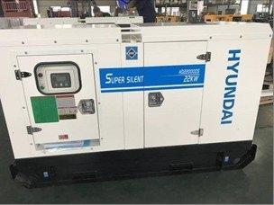 เครื่องปั่นไฟเครื่องยนต์ดีเซล 20KW. HYUNDAI รุ่น HD-22000DS (จ่ายไฟ 380/220V.| รับประกัน 1 ปี)