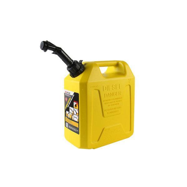 แกลลอนน้ำมันดีเซล 10 ลิตร มีระบบ Safety Valve SEAFLO (สีเหลือง   ใช้สำรองน้ำมันเชื้อเพลิง)