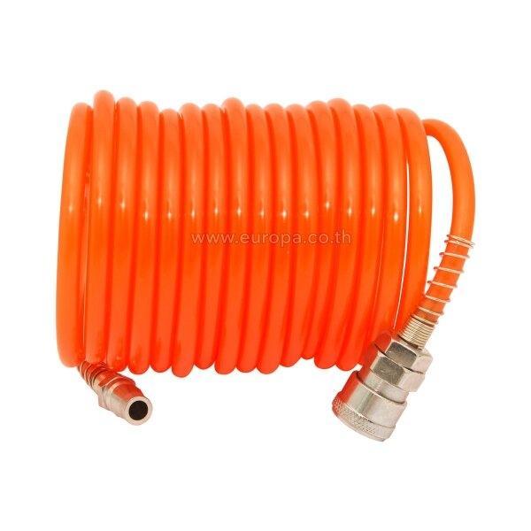 W111-1020 WUFU PU001-10M สายลมชนิดขด 10 ม. (สีส้ม)