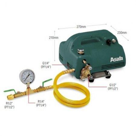 เครื่องทดสอบรอยรั่ว (Test Pump) ASADA รุ่น EP40 (EP440 | กล่องเขียว)