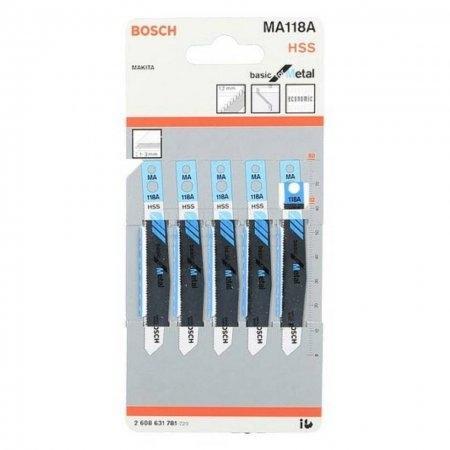 ใบเลื่อยจิ๊กซอว์ตัดเหล็ก BOSCH รุ่น MA118 A