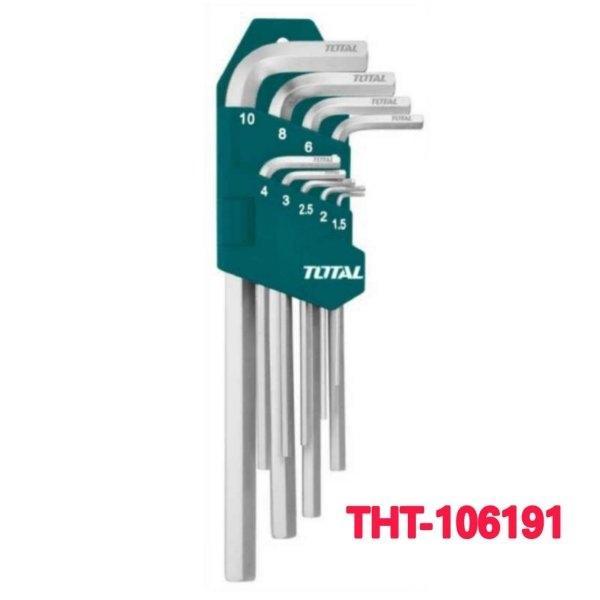 ประแจหกเหลี่ยม มิล 9 ตัว/ชุด TOTAL รุุ่น THT-106191
