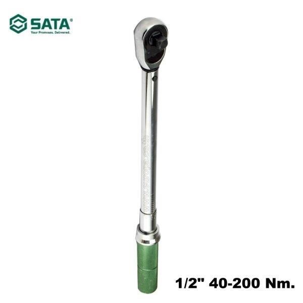 ประแจทอร์ค (ด้ามขันปอนด์) 1/2 นิ้ว 40 - 200 Nm.SATA รุ่น 96312