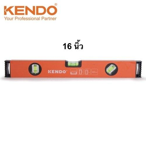 ระดับน้ำอลูมิเนียม (Box Style) 16 นิ้ว (400 มม.) 3ลูกน้ำ KENDO รุ่น  35352