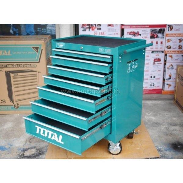 ตู้เครื่องมือช่าง 7 ชั้น TOTAL รุ่น THRC02071P (ตู้เปล่าไม่มีเครื่องมือ)
