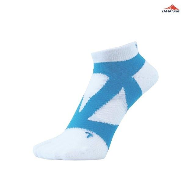 Yamatune : Spider Arch Support Socks (ไม่แยกนิ้ว) - white x sax