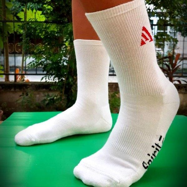 """""""3 คู่ 250"""" ถุงเท้ากีฬา-ผู้ใหญ่ Spirit สีขาว (SP3102)"""