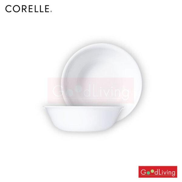 Corelle ถ้วยซุป/ซีเรียล ขนาด 500 ml. 6 (15.5 cm.) สีขาว 2 ชิ้น /C-03-418-N-LP