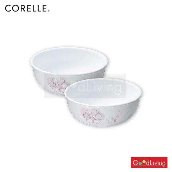 Corelle ชามอาหารสีชมพู ขนาด 473 มล. 2 ชิ้น/C-03-416-PD-2