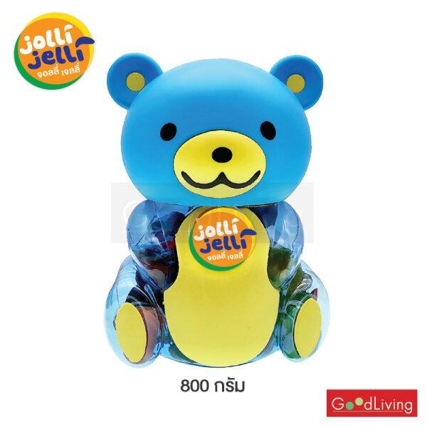 Jolli Jelli จอลลี่เจลลี่มินิฟรุ๊ต หมีสีชมพู,สีแดง,สีฟ้า 800 กรัม (จำนวน 1 กระปุก)