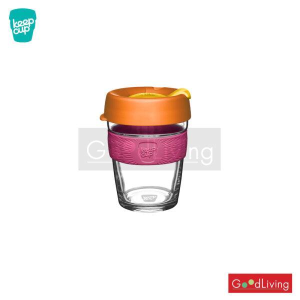 แก้ว KeepCup ใสฝาสีส้มที่จับสีชมพู-12oz LARCH/K-BLAR12