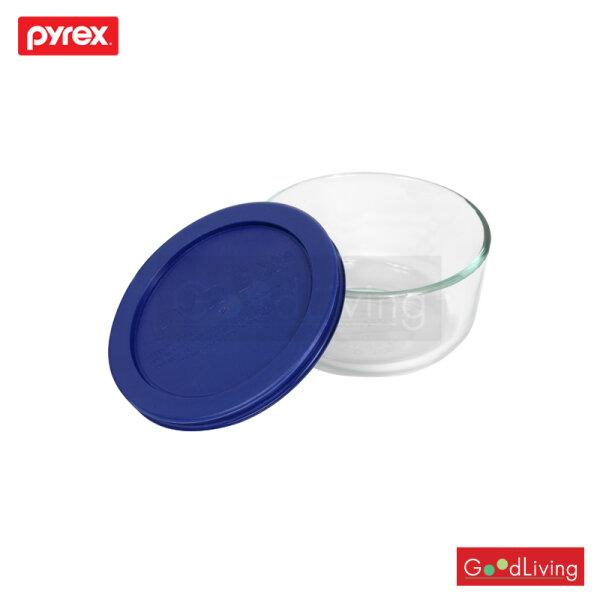 Pyrex ชามแก้วพร้อมฝา ขนาด 0.5L. รุ่น P-00-7200NN - สีน้ำเงิน