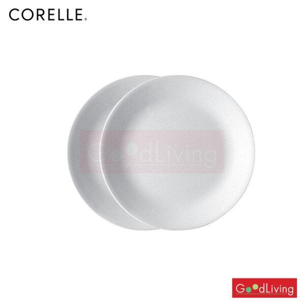 Corelle จานอาหาร ขนาด 8.5 (21 cm.) สีขาว 2 ชิ้น /C-03-108-NLP-B2