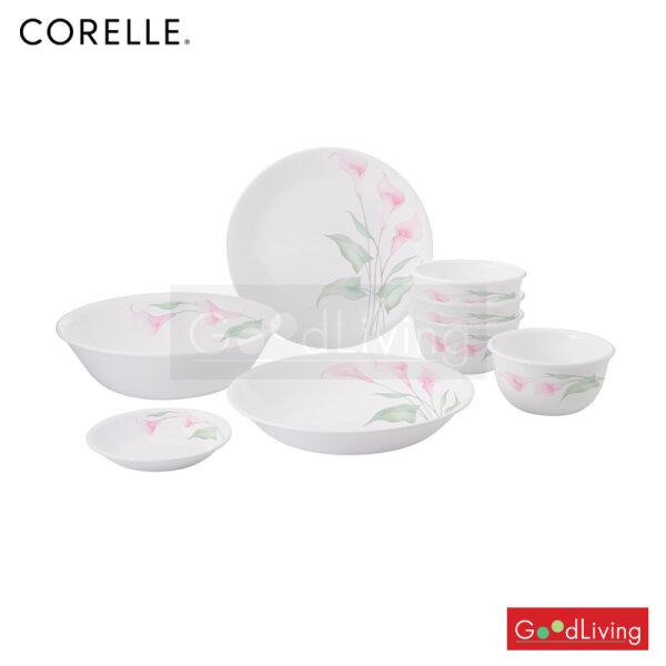 ชุดจาน Corelle 8 ชิ้น ลายลิลลี่วิลล์/C-03-8-LV-P แถมถุงผ้า Corelle brands