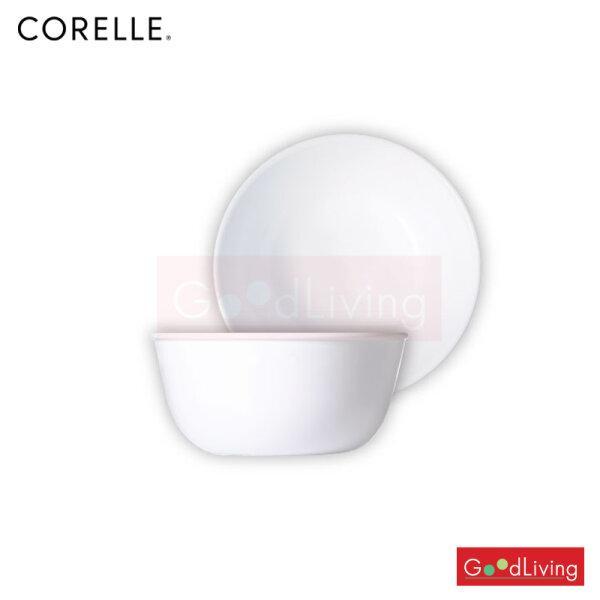 Corelle ชาม ขนาด 900 ml. 6.4 (15.5 cm.) สีขาว 2 ชิ้น /C-03-1033320-N-LP