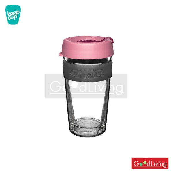 แก้ว KeepCup ใสสองชั้นฝาชมพูที่จับสีเทา-16oz/K-LPSCA16