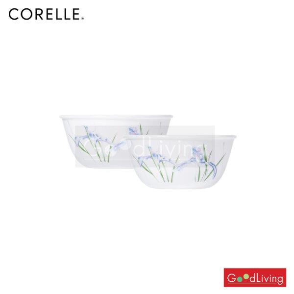 Corelle ชาม ขนาด 450 ml. 4.8 (12 cm.) สีฟ้า - เขียว 2 ชิ้น /C-03-426-333