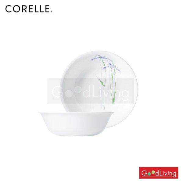 Corelle ถ้วยซุป/ซีเรียล ขนาด 500 ml. 6 (15.5 cm.) สีฟ้า-เขียว 2 ชิ้น /C-03-418-333