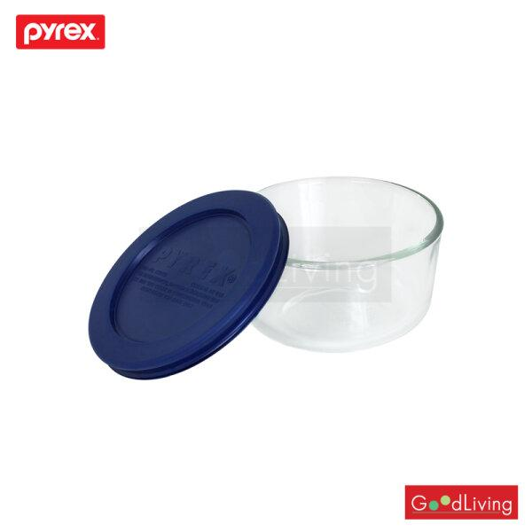 Pyrex ชามแก้วพร้อมฝาสีน้ำเงิน ขนาด 250 ml. รุ่น P-00-6021858 - สีน้ำเงิน