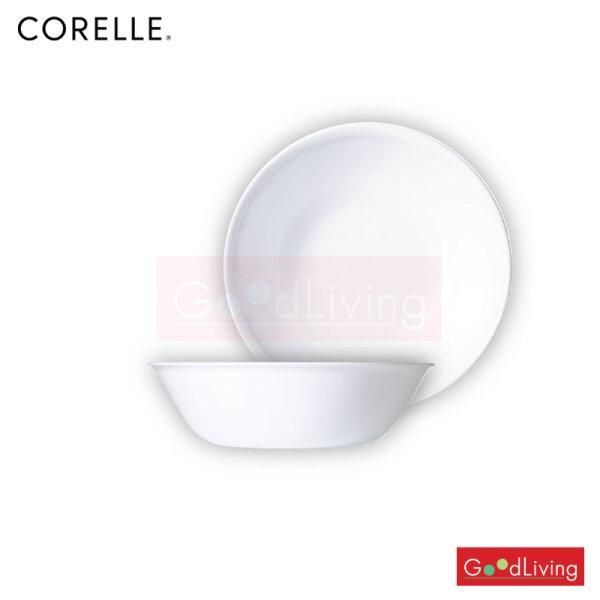 Corelle ชามเสิร์ฟ ขนาด 1 L. 8.5 (21.5 cm.) สีขาว 2 ชิ้น /C-03-432-N-LP